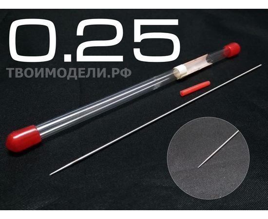 Аэрографы, компрессоры, ЗИП JAS 5112 Игла для аэрографа, длина 130 мм, 0,25 мм tm01316 купить в твоимодели.рф