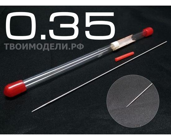 Аэрографы, компрессоры, ЗИП JAS 5104 Игла для аэрографа, длина 109 мм, 0,35 мм tm01254 купить в твоимодели.рф