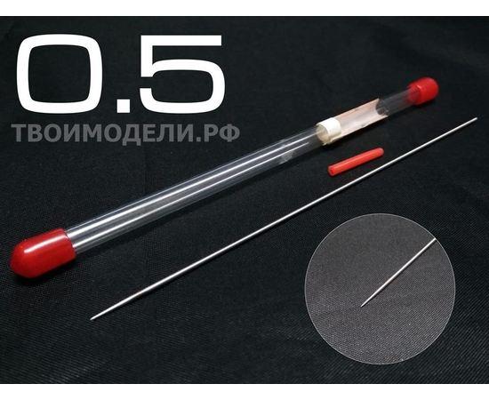 Аэрографы, компрессоры, ЗИП JAS 5115 Игла для аэрографа длина 130 мм 0,5 мм tm01324 купить в твоимодели.рф