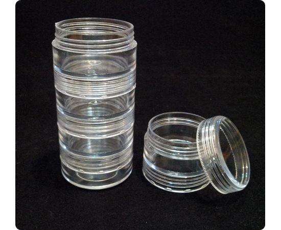 Оборудование для творчества JAS 9001 Набор баночек, 5 шт. d - 3,5 см, h - 10 см, этажерка tm01124 купить в твоимодели.рф