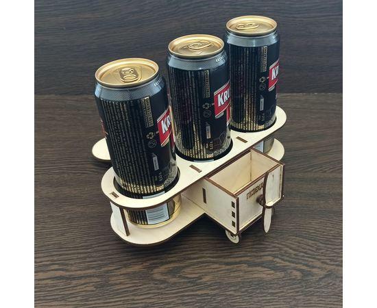 Изделия из дерева (фанеры) Подставка для баночного пива танк  (Самолет для пива, подарок мужчине) tm-19-9430 купить в твоимодели.рф