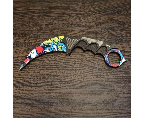 Изделия из дерева (фанеры) Нож Karambit камуфляж Skull Duo CS:GO из дерева цветной (прямая печать) сувенирный Керамбит Exclusive tm-19-9467-skull-01 купить в твоимодели.рф