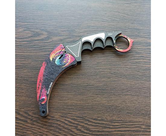 Изделия из дерева (фанеры) Нож Karambit камуфляж Alien CS:GO из дерева в ножнах сувенирный Керамбит Exclusive tm-19-9489-Alien купить в твоимодели.рф