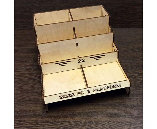 Изделия из дерева (фанеры) Органайзер универсальный настольный и ПК с отделами для хранения для самостоятельной сборки tm-19-9497 купить в твоимодели.рф