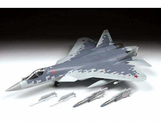 Склеиваемые модели  zvezda 4824 Звезда Су-57 Российский многофункциональный 5-го поколения 1/48 tm-19-9473 купить в твоимодели.рф