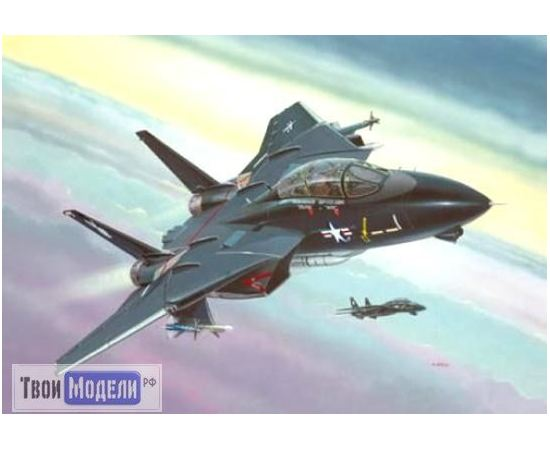 """Склеиваемые модели  Revell 04029 F-14 Военный самолет Tomcat """"Black Bunny"""" tm01819 купить в твоимодели.рф"""