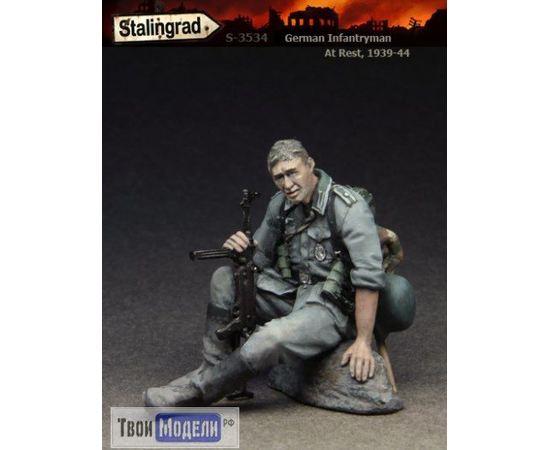 Склеиваемые модели  Stalingrad S-3534 Немецкий пехотинец на привале tm01563 купить в твоимодели.рф