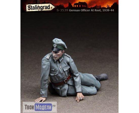 Склеиваемые модели  Stalingrad S-3539 Немецкий офицер на привале tm01562 купить в твоимодели.рф