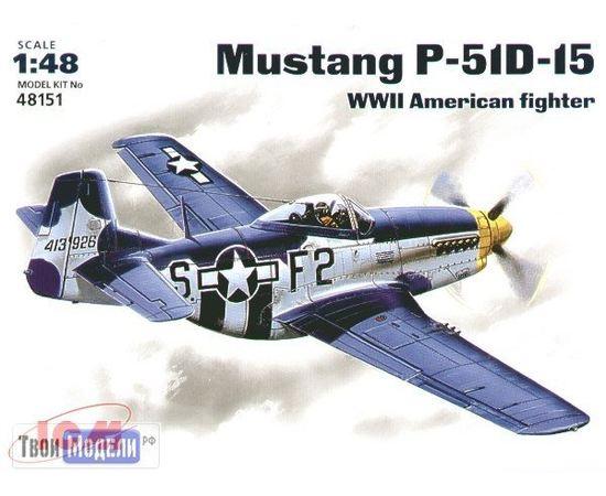 Склеиваемые модели  ICM 48151 P-51 D-15 Самолет Mustang 1/72 tm01917 купить в твоимодели.рф