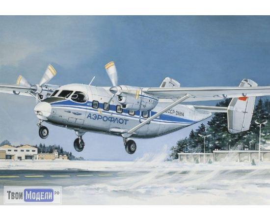 Склеиваемые модели  ЕЕ14435 Ан-28 Аэрофлот Пассажирский самолет Сборная модель tm01968 купить в твоимодели.рф
