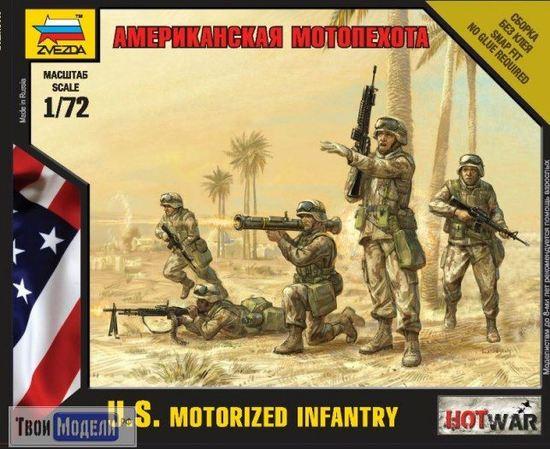 Склеиваемые модели  zvezda 7407 Звезда Американская мотопехота (Hot War) tm01676 купить в твоимодели.рф