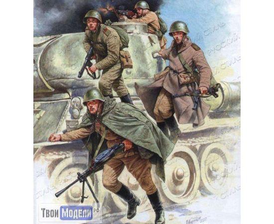 Склеиваемые модели  zvezda 3544 Звезда Советский танковый десант 1:35 tm01706 купить в твоимодели.рф