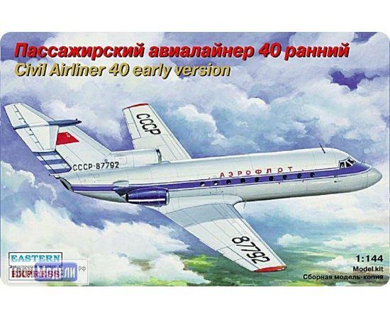 Склеиваемые модели  ЕЕ14492 Як-40 ранний  Авиалайнер 1:144 tm01976 купить в твоимодели.рф