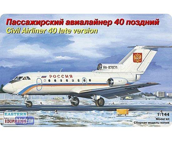 Склеиваемые модели  ЕЕ14493 Як-40 поздний Авиалайнер 1:144 tm01974 купить в твоимодели.рф