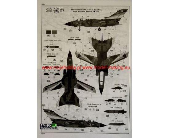 Склеиваемые модели  Revell 04063 Tornado GR Mk.1 RAF многоцелевой самолет tm01830 купить в твоимодели.рф