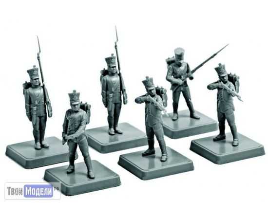 Склеиваемые модели  zvezda 6802 Звезда Французская линейная пехота 1812-1815 tm01661 купить в твоимодели.рф