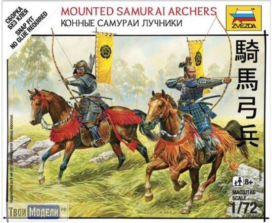 Склеиваемые модели  zvezda 6416 Звезда Конные самураи-лучники 1:72 tm01651 купить в твоимодели.рф