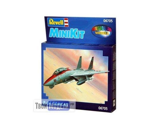 Склеиваемые модели  Revell 06705 F-14 истребитель-перехватчик Tomcat - MiniKit tm01816 купить в твоимодели.рф