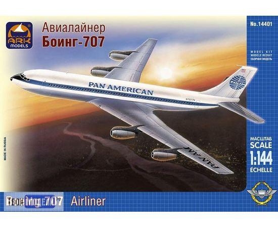 Склеиваемые модели  ARKModels 14401 Boeing 707-121 Лайнер (Боинг 707-121) tm01775 купить в твоимодели.рф