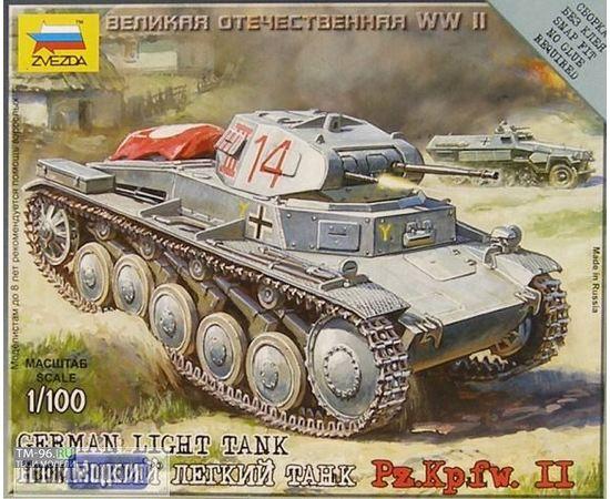 Склеиваемые модели  zvezda 6102 Звезда Pz.Kp.fw II Немецкий лёгкий танк. tm01655 купить в твоимодели.рф