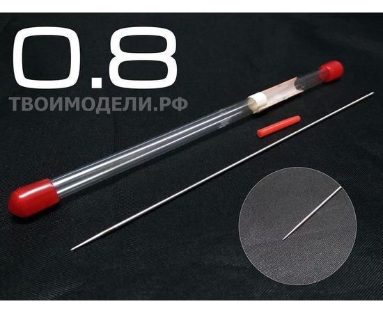 Аэрографы, компрессоры, ЗИП JAS 5117 Игла для аэрографа, длина 130 мм, 0,8 мм tm02356 купить в твоимодели.рф