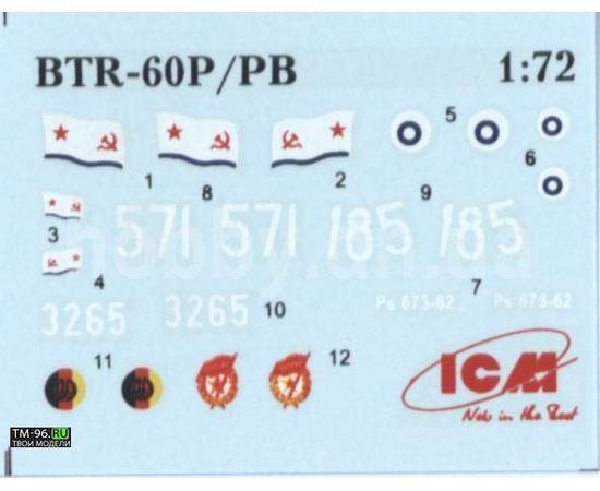 Склеиваемые модели  ICM 72911 Бронетранспортер БТР-60ПБ. tm02554 купить в твоимодели.рф