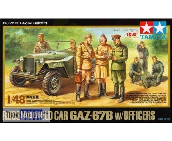 Склеиваемые модели  Tamiya 89767 Набор автомобиль ГАЗ 67Б+офицеры tm02648 купить в твоимодели.рф